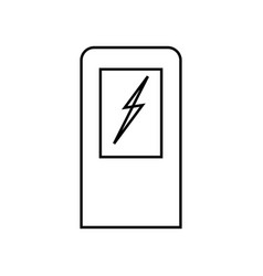 electric car charging station black color icon vector image