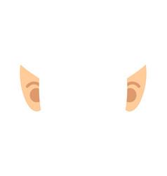 Elf ears isolated template portrait vector