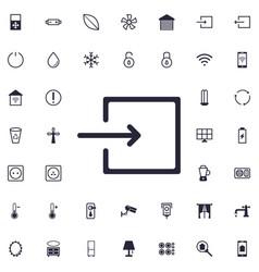 Entrance icon vector