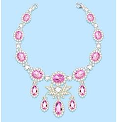 female necklace of precious stones vector image
