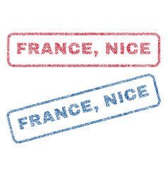 france nice textile stamps vector image