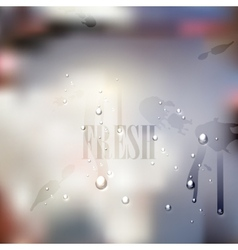 Fresh blurred background with water drops and vector