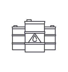 fuel line icon concept fuel linear vector image