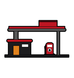 Gas station oil industry related icon image vector