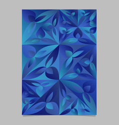 Geometrical abstract floral triangle brochure vector