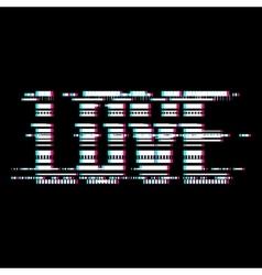 Glitch Love Lettering vector image