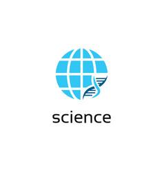 global science logo design vector image