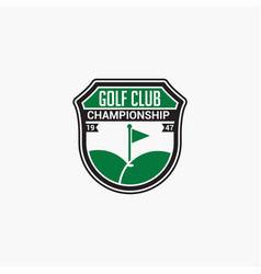 Golf club badge logo-11 vector