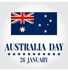 Greeting card Happy Australia Day National Celebra vector image