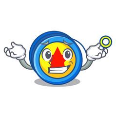 Grinning yoyo character cartoon style vector
