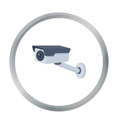 Hidden camera icon in cartoon style isolated on vector