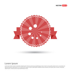 Loading buffer icon - red ribbon banner vector
