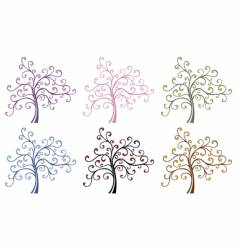 magic trees vector image