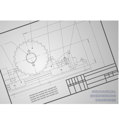 Mechanical drawings on a gray background vector