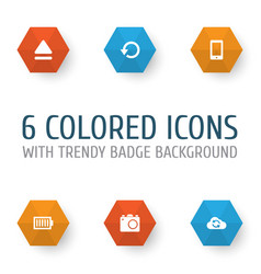 Media icons set collection of cellphone full vector