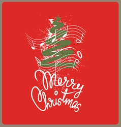 Merry christmas song vector image