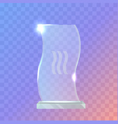 My best trophy crystalic award in waved shape vector