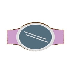 Pink steel digital smart watch screen vector