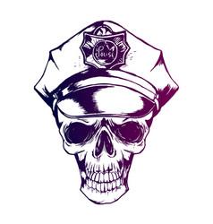 Police skull policeman s cap eps 10 police vector