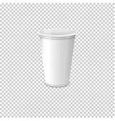 Realistic paper coffee cup set eps10 vector