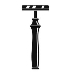 retro razor icon simple style vector image