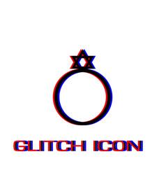 ring david star icon flat vector image