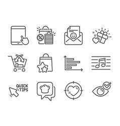 Set business icons such as tablet pc vector