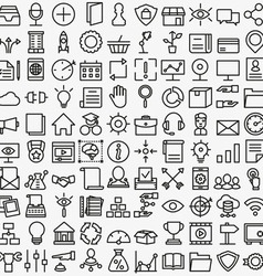 Set of linear media service icons 100 icons vector