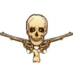 Skull guns vector