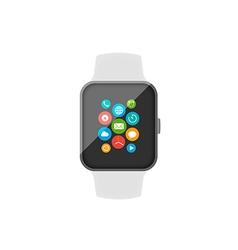Smart watch flat design vector