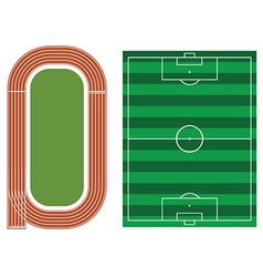 Sports fields vector