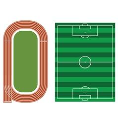 Sports fields vector