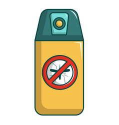Spray no mosquito icon cartoon style vector