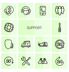 Support icons vector