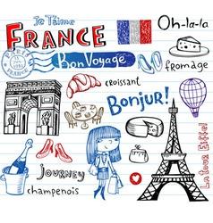Symbols france vector
