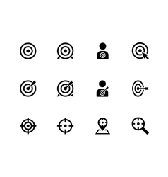 Target icons on white background vector image