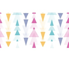 Textured arrows stripes horizontal border seamless vector