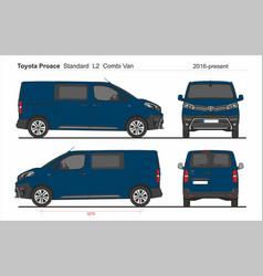 Toyota proace combi standard van l2 2016-present vector