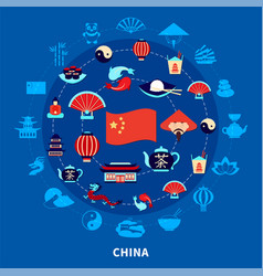 travel to china set vector image
