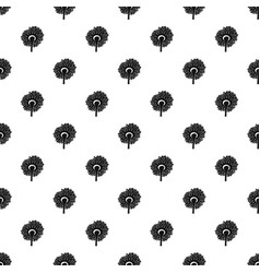 turning sunflower pattern seamless vector image