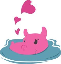 Valentine Hippo vector