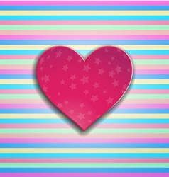 Valentines days heart vector image