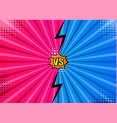Versus vs letters fight backgrounds in flat comics vector