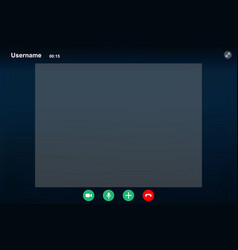 Video call screen template vector