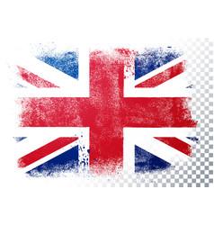 Vintage grunge texture flag great britain vector