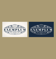 Vintage label design with an example of your text vector