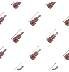 Violin icon in cartoon style isolated on white vector