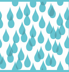 Water drops stylized seamless pattern vector