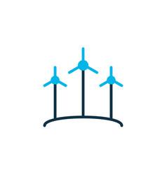wind power icon colored symbol premium quality vector image