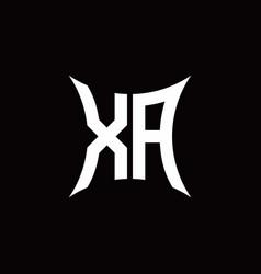 Xa monogram logo with sharped shape design vector